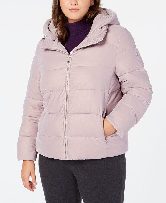 Calvin Klein - Plus Size Hooded Puffer Coat