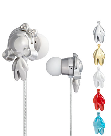 Space Age In-Ear Headphones Featuring Interchangeable Gwen Bodies :  blue macys silver white