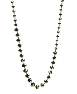 Kenneth Cole New York Necklace, Green Faceted Glass Station Necklace