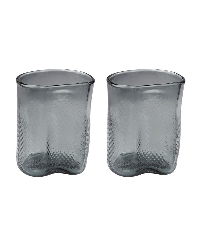 Dimond Home - Grey Fish Net Glass Vase - Set of 2