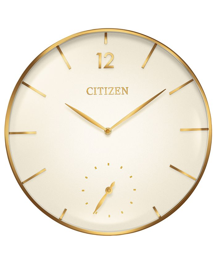 Citizen - Gallery Gold-Tone Wall Clock