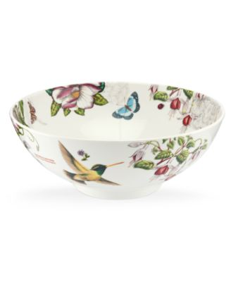 Portmeirion Dinnerware, Botanic Hummingbird Serving Bowl
