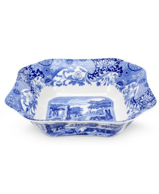 "Spode ""Blue Italian"" Square Serving Bowl, 9.5"""