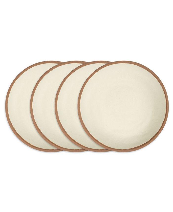 """Q Squared - Potter Terracotta 10"""" Melaboo 4-Pc. Dinner Plate Set"""