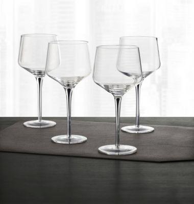 Set of 4 Black-Cased Stem Wine Glasses, Created for Macy's