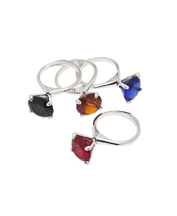 Godinger - Diamond Napkin Rings Set/4