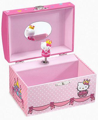 Hello kitty jewelry box music my site for Macy s standing jewelry box