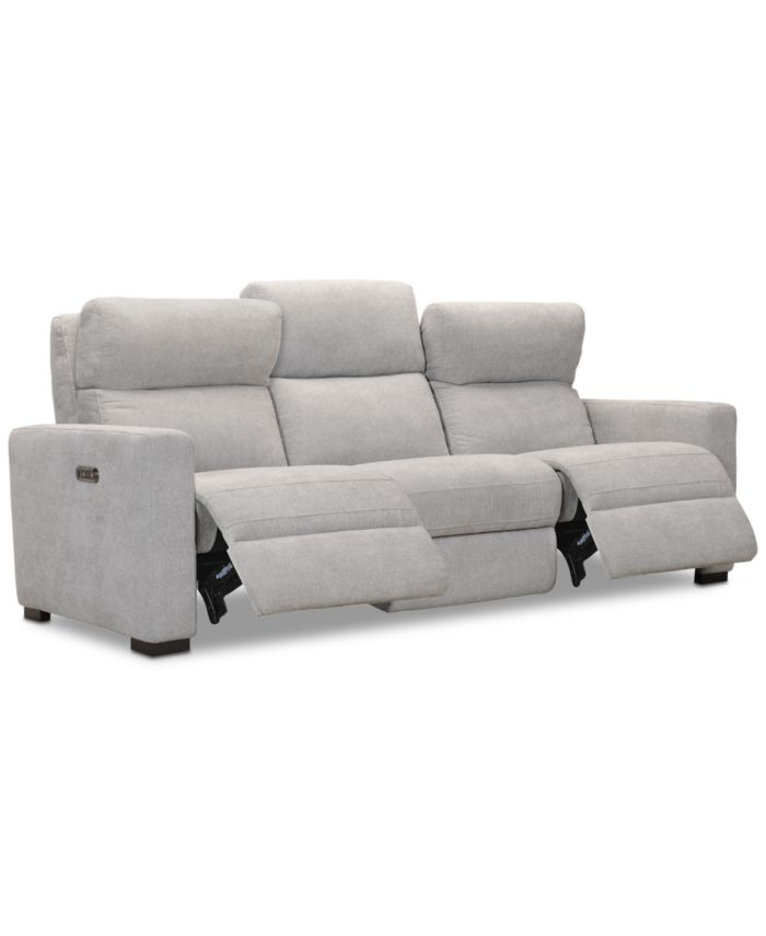 """Furniture CLOSEOUT! Clynton 88"""" Fabric Dual Power Sofa with USB Power Outlet & Reviews - Furniture - Macy's"""