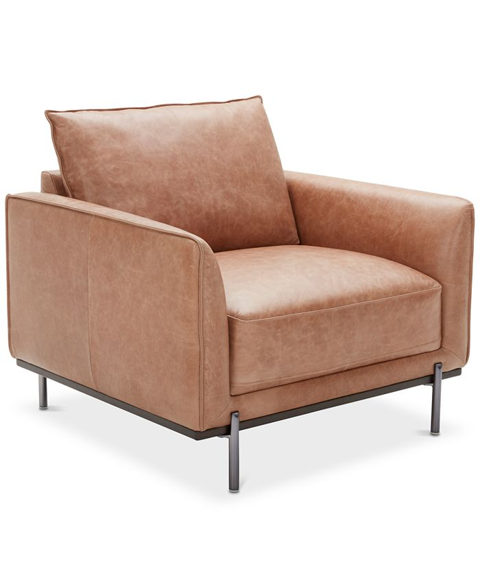 """Furniture - Havant 37"""" Leather Accent Chair"""