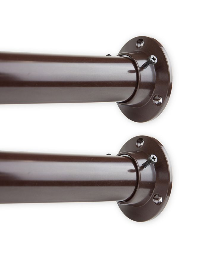 """Rod Desyne - 1.5"""" Adjustable 28-48 inch Room Divider Rod and Socket Set - Cocoa"""