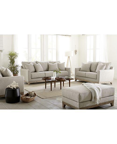 "Furniture CLOSEOUT! Brackley 94"" Fabric Sofa, Created For Macy"