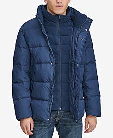 Marc New York Men's Down Puffer Jacket with Fleece Bib