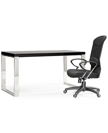 Stockholm Home Office Furniture, 2 Piece Set (Desk and Chair