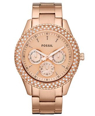 fossil s chronograph stella glitz gold ion