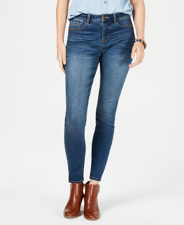 Style & Co - Power Sculpt Curvy-Fit Skinny Jeans