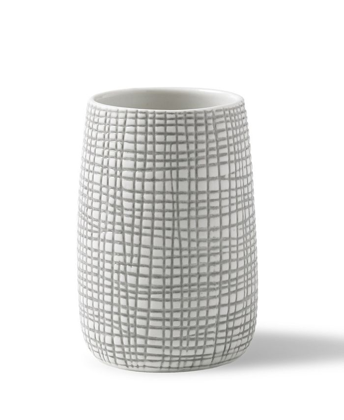 Cassadecor - Raffia Embossed Porcelain Tumbler