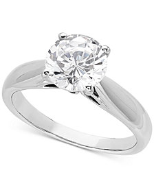 Lab Grown Diamond Solitaire Engagement Ring (2 ct. t.w.) in 14k White Gold