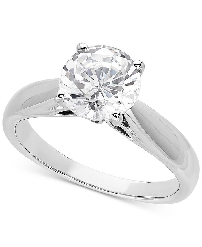 Grown With Love - Lab Grown Diamond Solitaire Engagement Ring (2 ct. t.w.) in 14k White Gold
