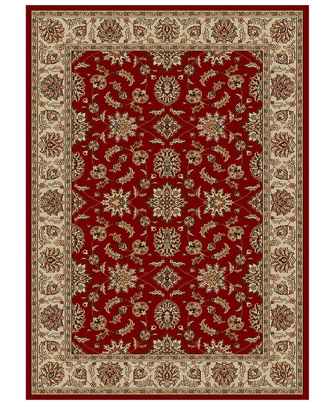 """KM Home CLOSEOUT!! Pesaro Meshed Red 3'3"""" x 4'11"""" Area Rug"""