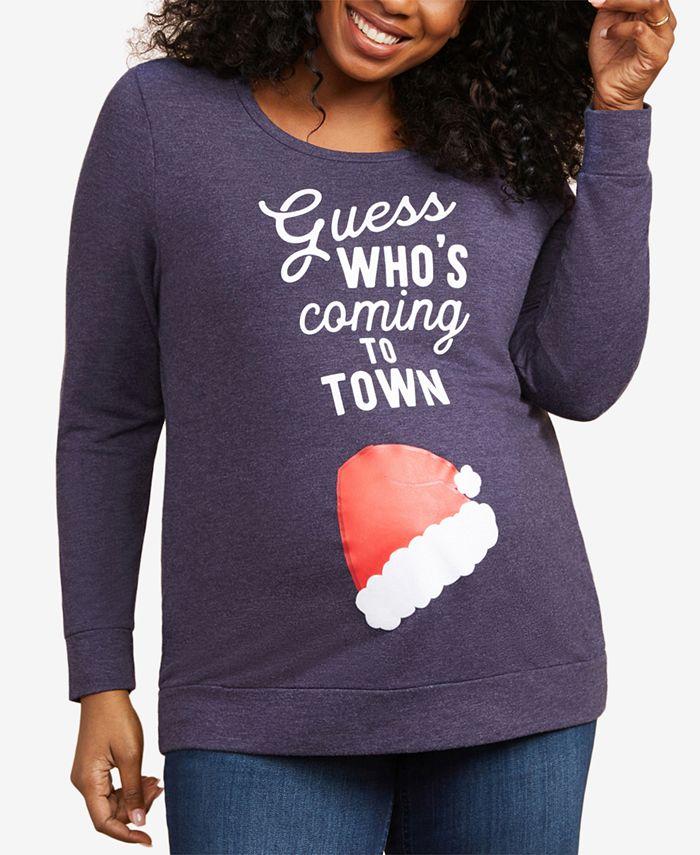 Motherhood Maternity - Maternity Plus Size Graphic T-Shirt