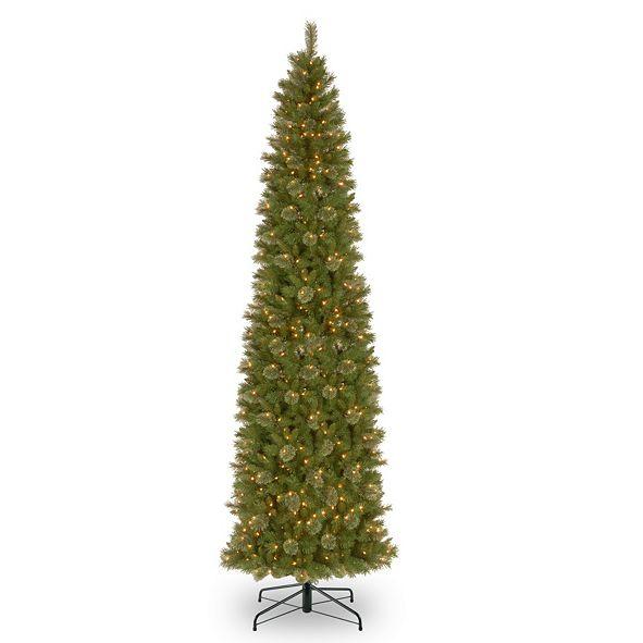 National Tree Company National Tree 12' Tacoma Pine Pencil Slim Tree with 750 Clear Lights