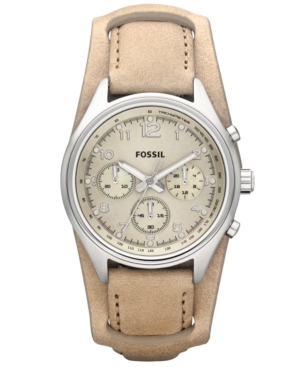 Fossil Watch, Women's Chronograph Sand Leather Strap 38mm CH2794