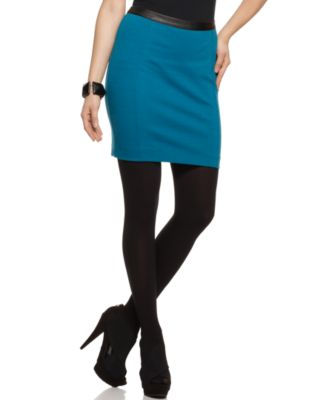 Rampage Skirt, Pencil Faux Leather Waist