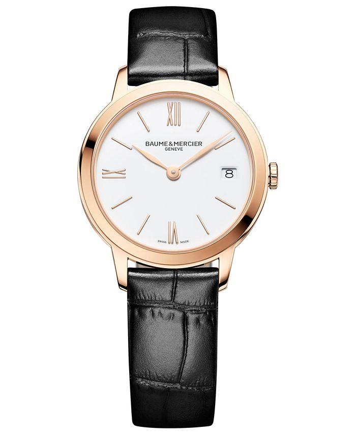 Baume & Mercier - Women's Swiss Classima Black Leather Strap Watch 31mm