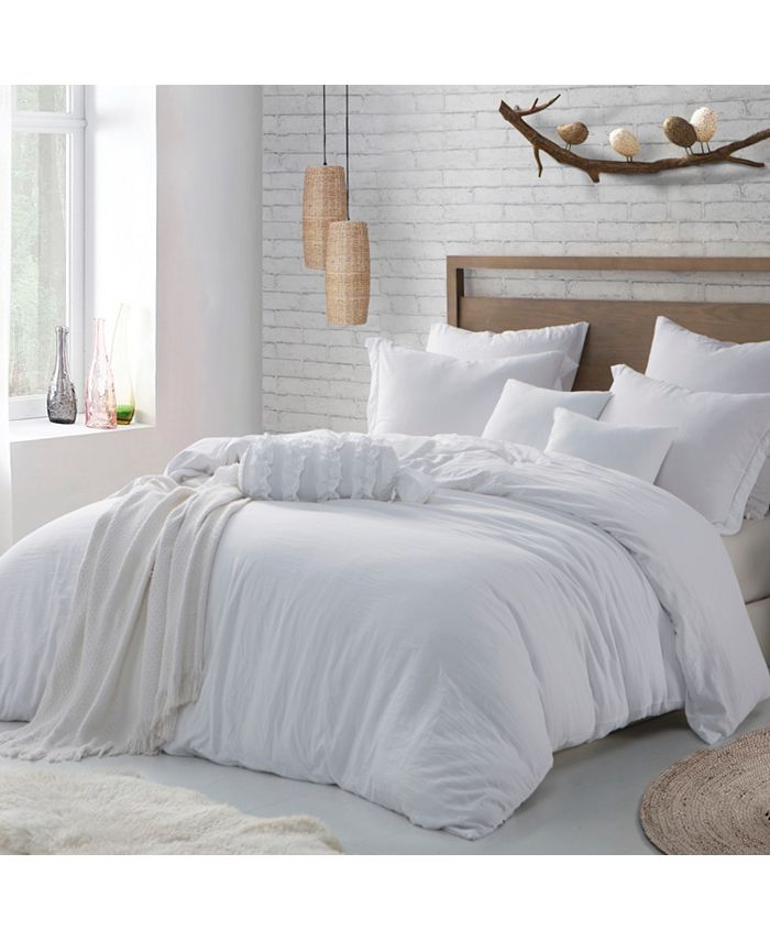 Cathay Home Inc Microfiber Washed Crinkle Duvet Cover Shams Full Queen Reviews Duvet Covers Bed Bath Macy S