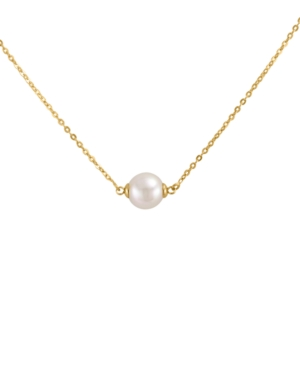 Majorica Pearl Necklace, 18k Gold On Sterling Silver Organic Man-Made White Pearl Pendant (8mm)