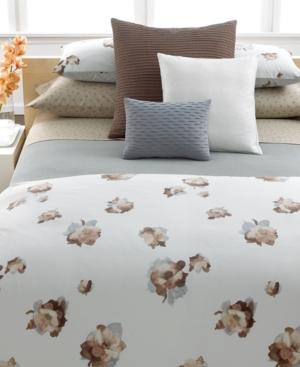 "Calvin Klein Home Bedding, Teaflower Reverse Tucks 12"" x 16"" Decorative Pillow Bedding"