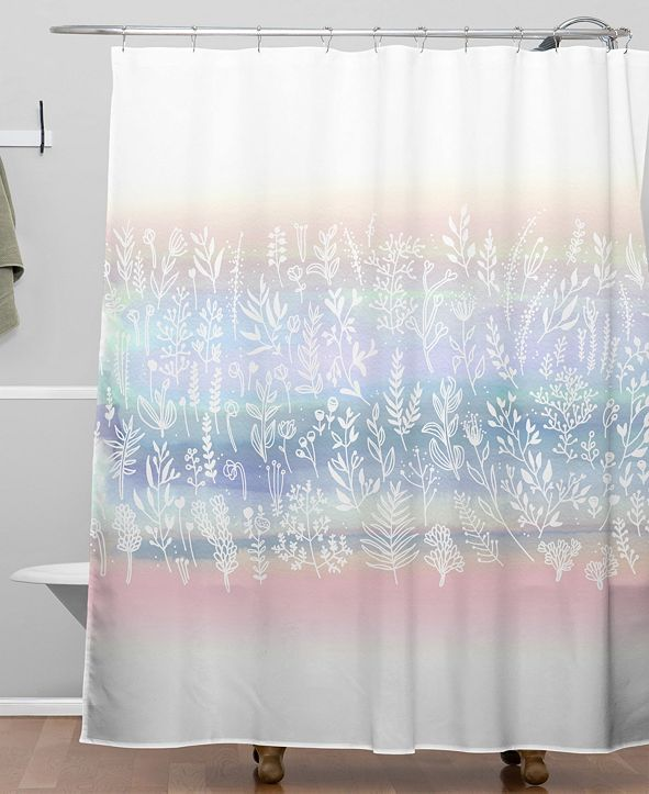 Deny Designs Iveta Abolina Pink Frost Shower Curtain