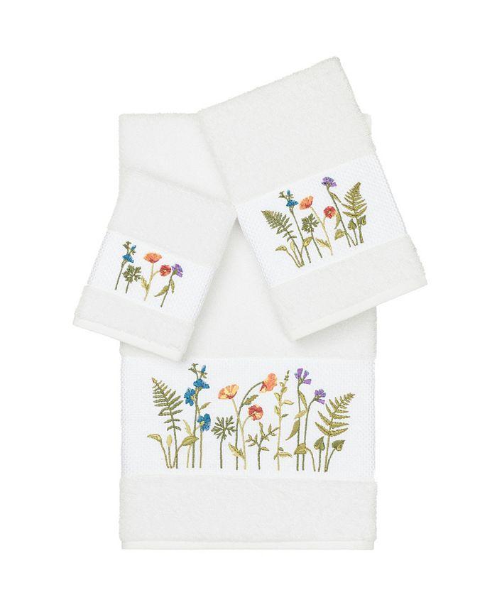 Linum Home - SERENITY 3PC Embellished Towel Set
