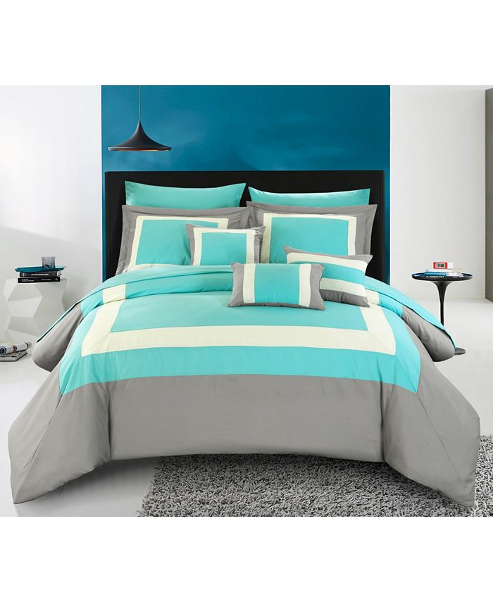 Chic Home - Duke 10-Pc. King Bed In a Bag Comforter Set