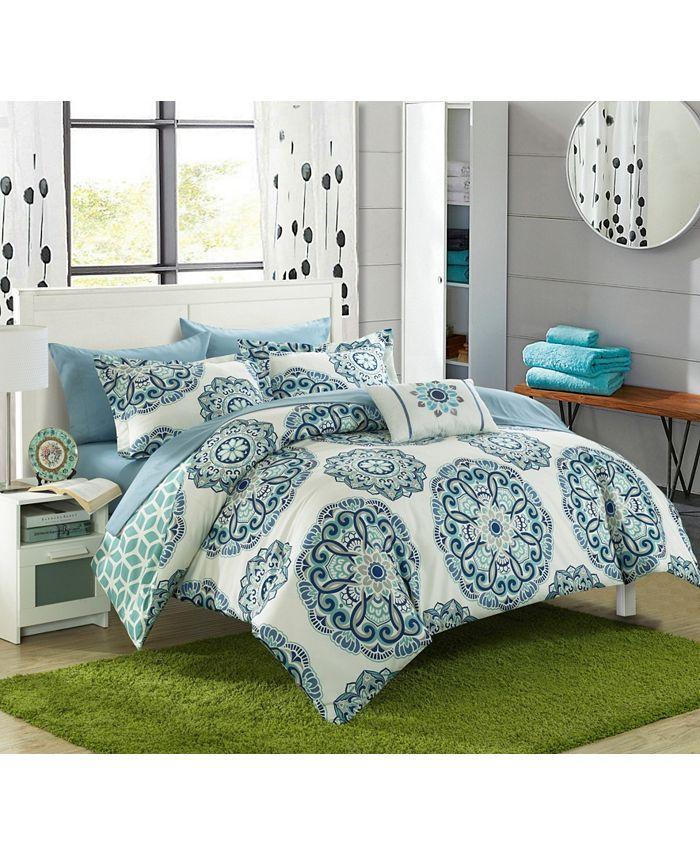 Chic Home - Barcelona 8-Pc. Full/Queen Comforter Set