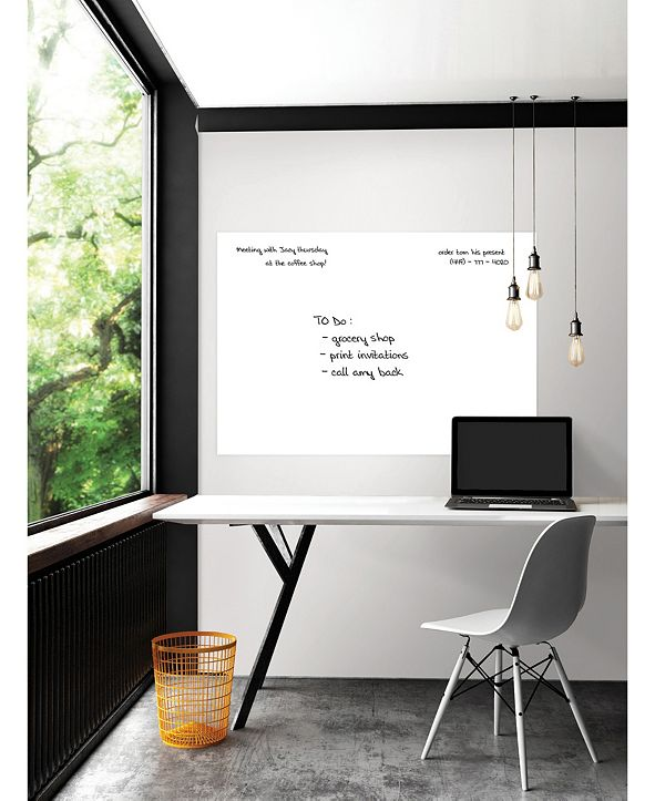 Brewster Home Fashions White Giant Dry Erase Decal
