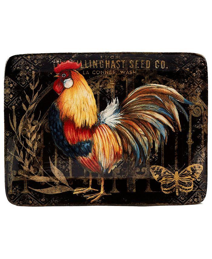 Tracy Porter - Gilded Rooster Rectangular Platter
