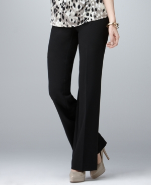 Style&co. Pants, Curvy Fit Straight Leg Flat Front