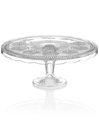 "Godinger Serveware, Modern Vintage Clear Florentine Cake Stand 12"""