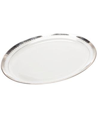 Martha Stewart Collection Dinnerware, Handkerchief Lace Oval Platter