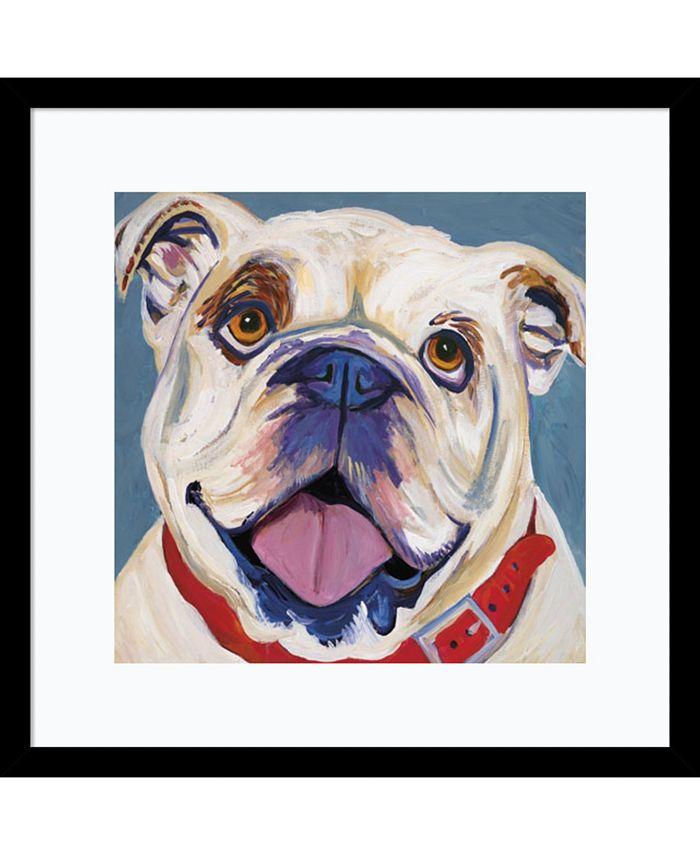 Amanti Art - I (Bulldog) 17x17 Framed Art Print