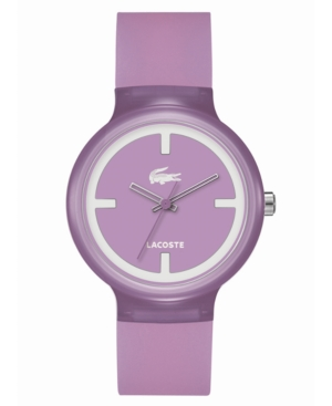 Lacoste Watch, Unisex Goa Purple Silicone Strap 40mm 2020026