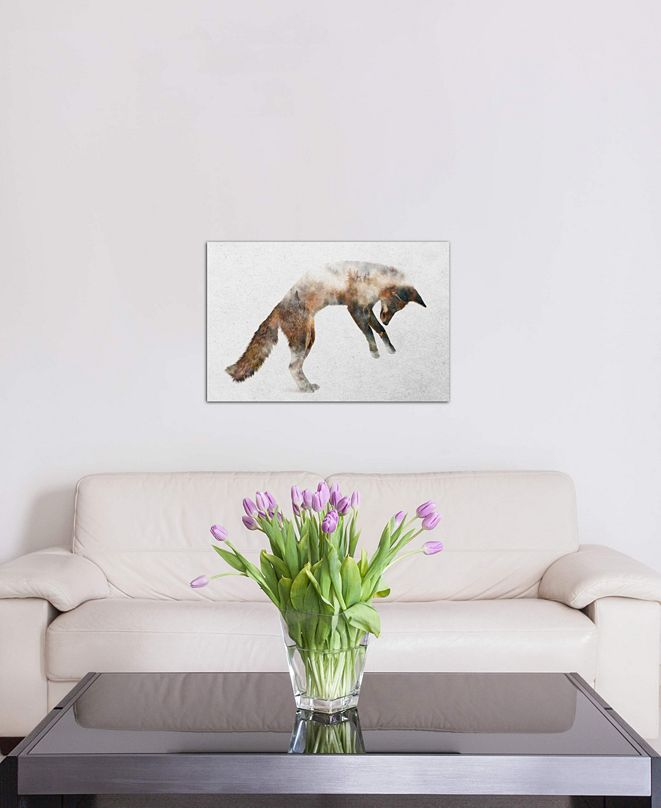 "iCanvas ""Jumping Fox"" by Andreas Lie Gallery-Wrapped Canvas Print"