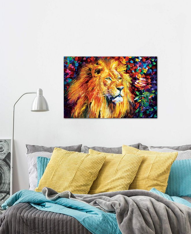 """iCanvas """"Lion"""" by Leonid Afremov Gallery-Wrapped Canvas Print"""