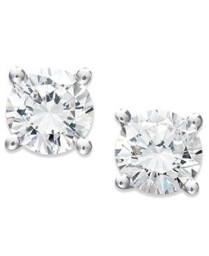 Juliet Diamond Earrings, 14k White Gold Certified Diamond Stud Earrings (1/2 ct. t.w.)