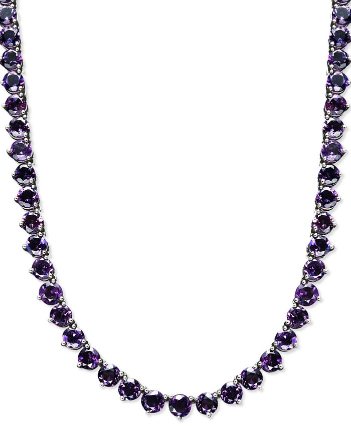 Macy's - Sterling Silver Necklace, Amethyst Necklace (30 ct. t.w.)