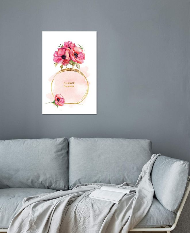"""iCanvas """"Round Perfume Bottle & Poppies"""" by Amanda Greenwood Gallery-Wrapped Canvas Print (26 x 18 x 0.75)"""
