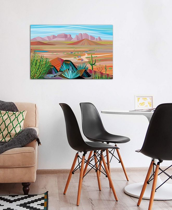 """iCanvas """"West Of Phoenix"""" by Charles Harker Gallery-Wrapped Canvas Print (26 x 40 x 0.75)"""