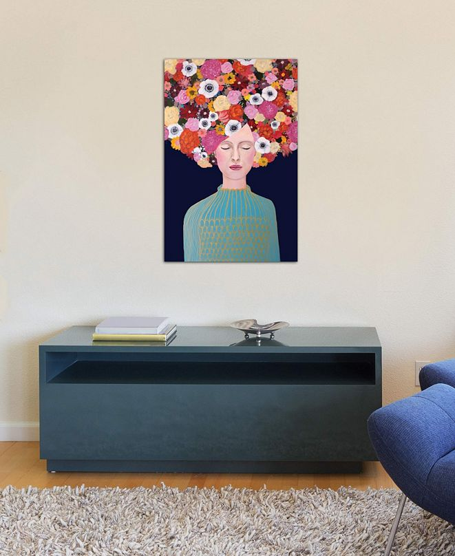 """iCanvas """"Celeste"""" by Sylvie Demers Gallery-Wrapped Canvas Print (26 x 18 x 0.75)"""