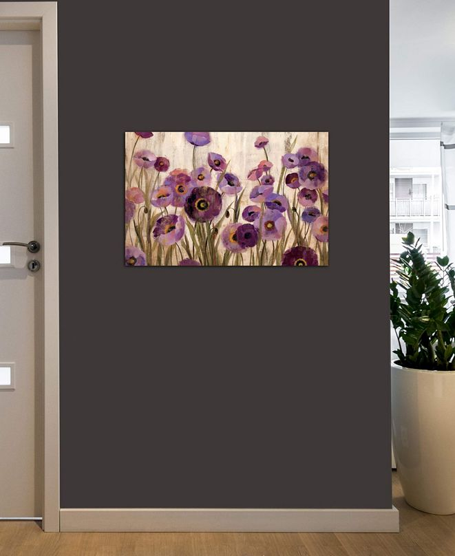 """iCanvas """"Pink and Purple Flowers """" by Silvia Vassileva Gallery-Wrapped Canvas Print (18 x 26 x 0.75)"""
